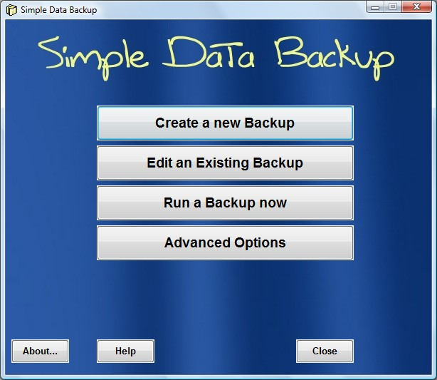 Simple Data Backup